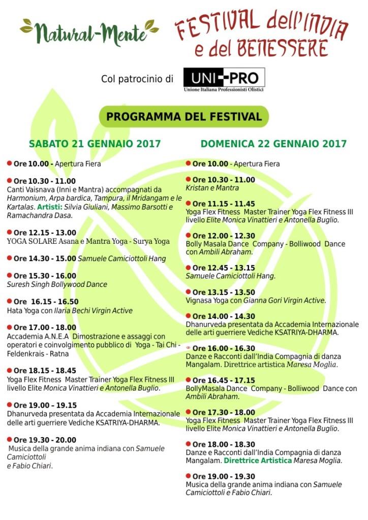 Programma del Festival